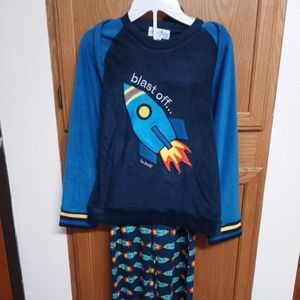 Rocketship pajamas